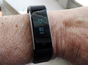 Yuan Guo Activity Tracker with Heart Rate Monitor in action